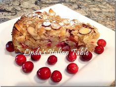 Cranberry Almond Cake - a beautiful Italian holiday pastry cake! http://www.lindasitaliantable.com/cranberry-almond-cake/