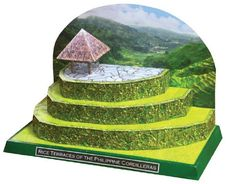 PAPERMAU: Rice Terraces Of The Philippine Cordilleras Diorama Paper Modelby…