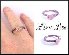 L & W sitting in a tree...k i s s i n g !! Get your customized hammered heart copper ring today! Let Lora Lee create one with your personalized choice of letters. www.facebook.com/CentsationsbyLoraLee Each ring is hand crafted with love and attention to details. Created from salvaged copper wire. Recycling = Beautiful