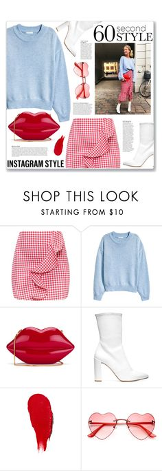 """""""60-Second Style: Insta-Ready"""" by myduza-and-koteczka ❤ liked on Polyvore featuring H&M, Lulu Guinness, Stuart Weitzman, Anja and Rodin"""