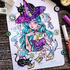 🌙🔮🎲💌📮Mysterious letter 📮💌🎲🔮🌙 ✨✨✨✨✨✨✨✨✨✨✨✨✨✨✨✨✨✨✨✨✨✨✨✨✨✨✨✨✨ ✨ #watercolor #witchdrawing #witchyvibes #witchywoman #artbyamandahy #drawingoftheday #illustgram #witchyart #witchythings #drawing #illustration  #witches #witchesofinstagram #illo #witchy #wicca #witchcraft #gothicjewelry #witchlife #witchvibes #witchessociety #gothgirl #gothic #gothicstyle #tarotcards #gothfashion #ecolinebrushpen #divination #spacewitch #sketchbooks Halloween Drawings, Halloween Art, Wiccan Sabbats, Wicca Witchcraft, Amazing Drawings, Amazing Art, Art Sketches, Art Drawings, Witch Drawing