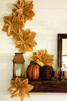 20 Fabulous DIY Fall Decor Inspirations And Ideas....  Omg this would make an awesome center piece for every few tables at your wedding.  Just a thought I had anyways (The floating apple design at the end)