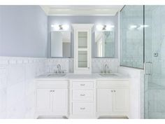 Master bathroom idea, different colors  though.