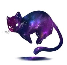 Gata!Familiar Cute Art, Fashion Art, Acid Lsd, Galaxy Cat, Neko, Cat Silhouette, Space Cat, Warrior Cats, Cat Drawing