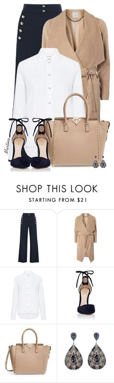 """Bez naslova #2784"" by martina-cciv ❤ liked on Polyvore featuring Chloé, mel, Carven, Gianvito Rossi and Valentino"