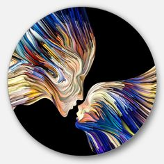 Circle Canvas, Round Canvas, Circle Metal Wall Art, Circle Art, Vinyl Record Art, Vinyl Art, Circle Painting, Crayon Painting, Rock Painting Designs