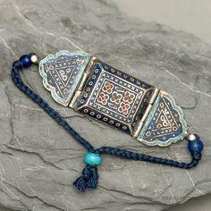Multan enamelled silver bracelet Verry by PiekielkoEtnoJewelry