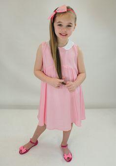 Fendi girls pink dress and head band with Lelli Kelly sandals from  Designerchildrens... #fendi #fendikids #fendigirls #designerkids #designerclothes #luxurykids #kidsclothes #girlsclothes #modelkids #fun #summer #dress #chic #style #kidsblog #lellikelly