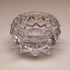 "Fostoria glass ""American"" pattern Salt Dip"