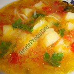 Ciorba de praz acrita cu zeama de varza (de post) Romanian Food, Salsa, Vegetarian Recipes, Soup, Fruit, Ethnic Recipes, Salsa Music, Soups, Vegetable Dip Recipes