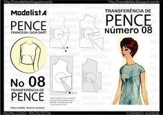 How to move draft Neckline  ModelistA: A3 NUMo 0242 T DE PENCES 08