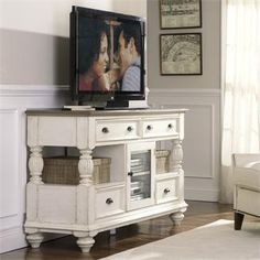 Coventry Tall TV Console I Riverside Furniture