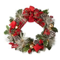 "FREE SHIPPING AVAILABLE! Buy North Pole Trading Co. Nordic Frost 20"" Pine Cone"" Indoor/Outdoor Christmas Wreath at JCPenney.com today and enjoy great savings."