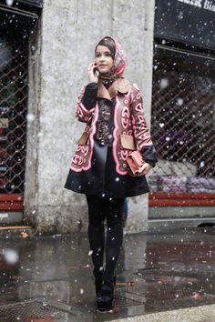 How Miraslava Duma does winter Miroslava Duma, Parka, Traditional Fashion, Russian Fashion, Anna Dello Russo, International Fashion, Blazer, Autumn Winter Fashion, Winter Style