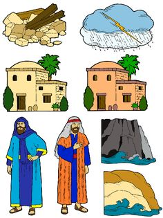 THE WISE MAN AND THE FOOLISH MAN STORY FIGURES