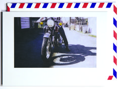 Vroom vroom, man.  Polaroid shot in Vancouver, Canada. Each notecard is 3.5 x 4.9, printed on crisp, white 14 pt. stock and tucked into a nostalgic airmail envelope.