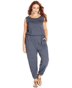 ING Plus Size Sleeveless Jumpsuit | this looks so comfy