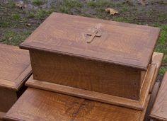 Custom Made Custom 375 Year Old Quarter Sawn White Oak Bible Boxes