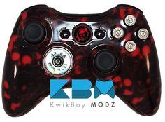 Gears Of War Full Ammo Xbox 360 Controller - KwikBoy Modz #gearsofwar #gears #gow #gearsofwarcontroller #cog #omen #bullets #customcontroller #moddedcontroller
