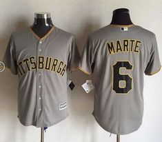 d1679b1d355 Pirates  6 Starling Marte Grey New Cool Base Stitched MLB Jersey Pittsburgh  Pirates