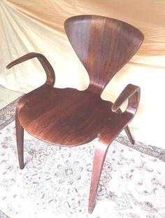 mid century cherner goldman pretzel chair for plycraft bernado 1 pc of wood