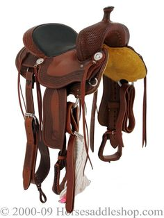 Billy Cook Trail Saddle. This is my Cadillac of saddles. Can ride all day and still walk the next!