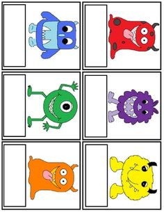 Monster Color Word Trace and Match