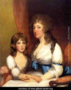 Mrs. Samuel Dick and Daughter Charlotte Anna - Gilbert Stuart - www.gilbert-stuart.org