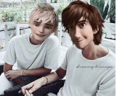 Jack frost and Hiccup Swan Haddock  ( BFF ❄ )