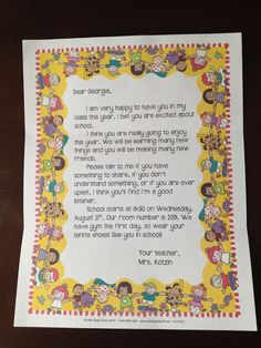 New Tales of a Third Grade Teacher: Welcome Back to School Letter