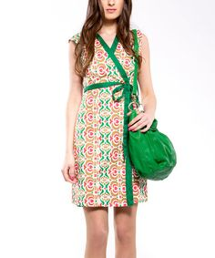 Take a look at this Green Premium Dress - Women by Almatrichi on #zulily today!  $50 !!
