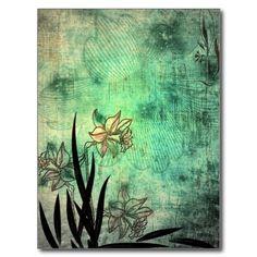 Antique flowers Art Post Cards