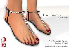 Pure Poison - Klara Sandals - Ad-Ons for Slink Flat Feet   Flickr - Photo Sharing!
