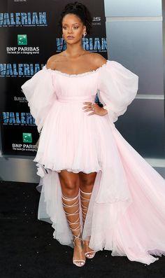 Rihanna wearing Giambattista Valli at the Valerian premiere