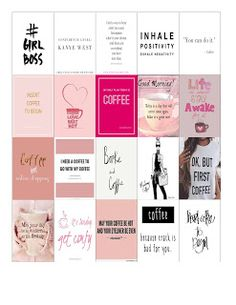 Haas: FREE Planner Printables: Girl Boss & Coffee Stickers for Happy…Malena Haas: FREE Planner Printables: Girl Boss & Coffee Stickers for Happy… To Do Planner, Free Planner, Planner Pages, Happy Planner, College Planner, College Tips, Planner Ideas, Organisation Journal, Planner Organization