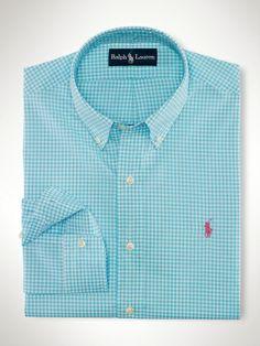 Ralph Lauren Classic Custom-Blue Red Diagonal Stripe Bright Polo