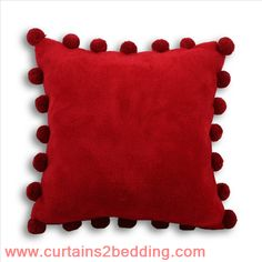 Pompom 45x45 Red. Riva Paoletti Product on