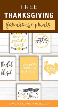 Choose your favorite Thanksgiving farmhouse color scheme and simply download and print the Thanksgiving printable decor of your choice. There are 12 prints total to mix and match as you like. #thanksgiving #thanksgivingdecor #thanksgivingdiy #printable #thanksgivingprintable