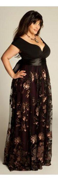 Nadine Jeweled Plus Size Gown in Onyx from @IGIGI by Yuliya Raquel ...