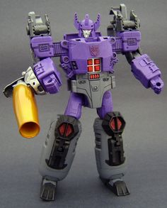 It's Galvatron, this time in dark purple and a voyager-size class. The last one I did was the huge leader size and the dark blue. Galvatron In Purple 1 Transformers Toys, Strange Things, Jin, The Darkest, Action Figures, Deviantart, Shit Happens, Cool Stuff, Purple