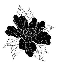 Black Peony Flower Art Print by ptrn overdose - X-Small Tattoo Design Drawings, Flower Tattoo Designs, Flower Tattoos, Cover Up Tattoos, Body Art Tattoos, Sleeve Tattoos, Black Tattoo Cover Up, Tattoo Arm, Japanese Flower Tattoo