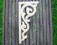 Porch by DavidWolfer on Etsy Porch Brackets, Wood Brackets, Porches, Decorative Brackets, Shelf Holders, Homemade Tools, Scroll Saw Patterns, Pergola, Architectural Salvage