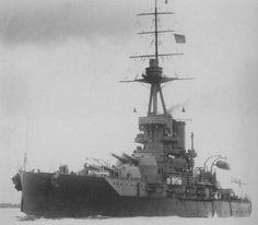 HMS Iron Duke (1912) dreadnought battleship of the British Royal Navy, 1916.