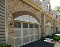 Improve the curb appeal of your home with new garage door window inserts. Contact us today for garage door window insertion and repair in Columbus, OH. Garage Door Window Inserts, Garage Door Colors, Garage Door Paint, Garage Door Windows, Garage Door Styles, Garage Door Makeover, Windows And Doors, Shutters Brick House, Facade House