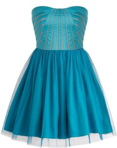 Peacock Tutu Dress: Features an elegant strapless cut defined by a darling sweetheart neckline, beautiful paneling to the bust for a fashion-forward peekaboo effect, centered back zip closure, and a twirl-worthy tutu skirt to finish.
