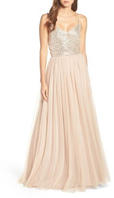 Women's Adrianna Papell Embellished Two Piece Gown at Nordstrom #affiliatelink