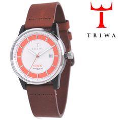 TRIWA(トリワ)×Tarnsjons 腕時計 Flaming Niben ブラウン×オレンジ×ホワイト【送料無料】 wc-triwa-054