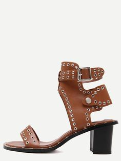 Brown+Open+Toe+Eyelets+Chunky+Sandals+37.99