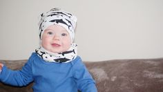 Beanie and infinity scarf by JaydenandOlivia | Sharks | Baby Model | Photography