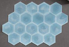 Hex slate tiles